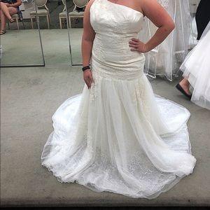 Vera wang wedding dress bought at David's bridal!